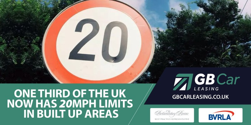 A third of the country now have 20mph speed limits for built-up areas