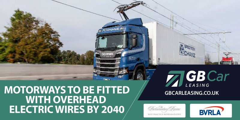 Motorways will be fitted with overhead electric wires
